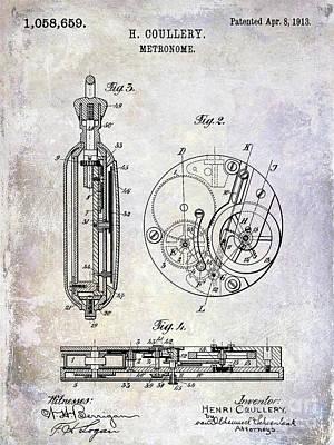 1913 Pocket Watch Patent Art Print