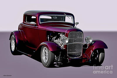 Vesna Antic Abstract Paintings - 1932 Ford Three Window Coupe   by Dave Koontz