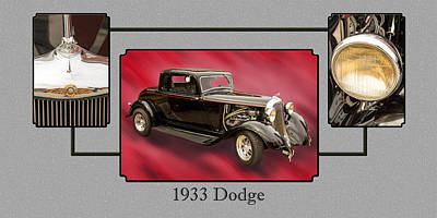 Photograph - 1933 Dodge Vintage Classic Car Automobile Photographs Fine Art P by M K  Miller
