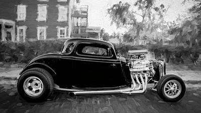 Photograph - 1934 Ford Hot Rod Coupe Bw by Rich Franco