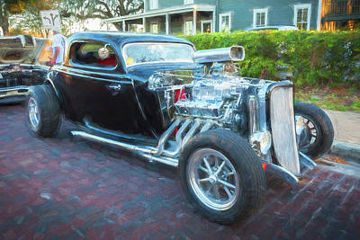 Photograph - 1934 Ford Hot Rod Coupe by Rich Franco