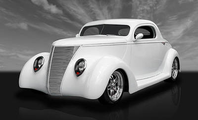 Custom Automobile Photograph - 1937 Ford Coupe by Frank J Benz
