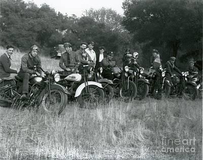 1941 Motorcycle Vintage Series Original by Sherry Harradence