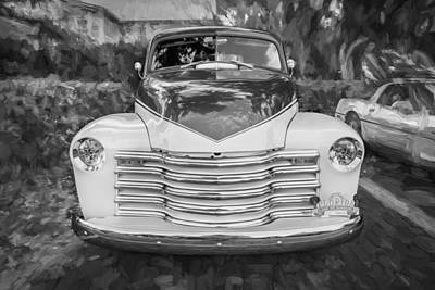 1952 Chevrolet 3100 Series Pick Up Truck X Cab Painted Bw   Art Print by Rich Franco
