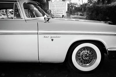 Photograph - 1956 Chrysler New Yorker Newport Bw   by Rich Franco