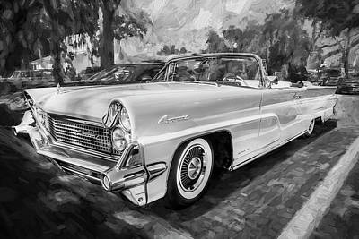 Concord Painting - 1959 Lincoln Continental Town Car Mk Iv Painted Bw   by Rich Franco