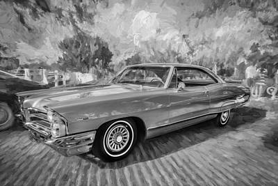 Pontiac Catalina Wall Art - Photograph - 1965 Pontiac Catalina Coupe Painted Bw  by Rich Franco