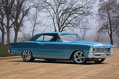 Recently Sold - Sports Royalty-Free and Rights-Managed Images - 1966 Chevrolet Nova Super Sport by Dave Koontz