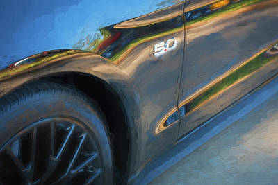 Photograph - 2015 Ford Mustang Gt Painted  by Rich Franco
