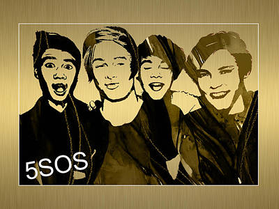 Australia Mixed Media - 5sos Collection by Marvin Blaine