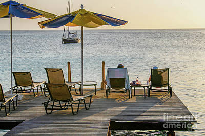 Handcarved Photograph - A Deck With A View by Patricia Hofmeester