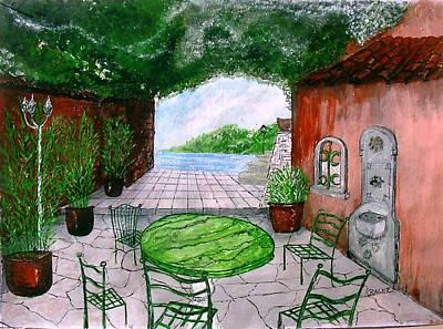 a la Provence Art Print by KlausJuergen Rach
