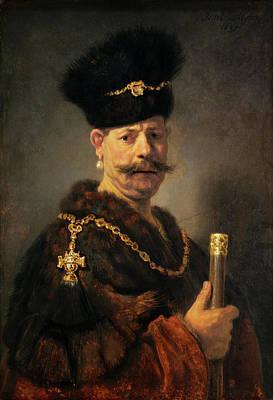 Painting - A Polish Nobleman by Rembrandt van Rijn
