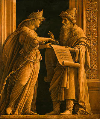 Painting - A Sibyl And A Prophet by Andrea Mantegna