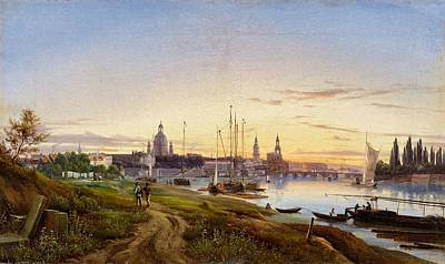 Water Painting - A View Of Dresden by Anton Castell