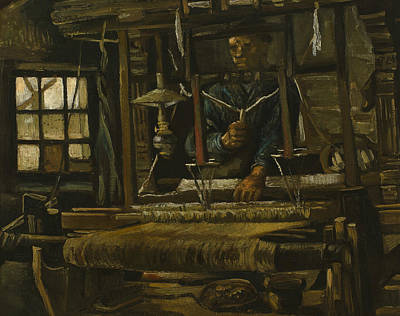 Weaving Painting - A Weaver's Cottage by Vincent van Gogh