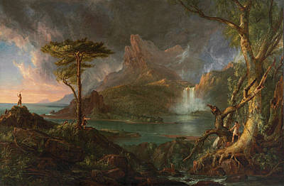 Cascade Painting - A Wild Scene by Thomas Cole