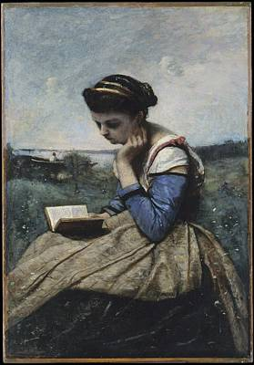 A Woman Reading Original by Camille Corot