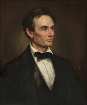 Painting - Abraham Lincoln by George Peter Alexander Healy