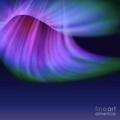 Digital Art - Abstract Aurora  by Atiketta Sangasaeng