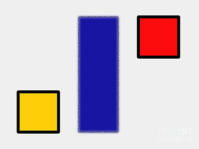 Abstract Composition 06 Piet Mondrian Style Art Print
