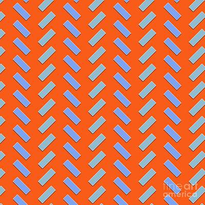 Modernart Digital Art - Abstract Orange, White And Red Pattern For Home Decoration by Pablo Franchi