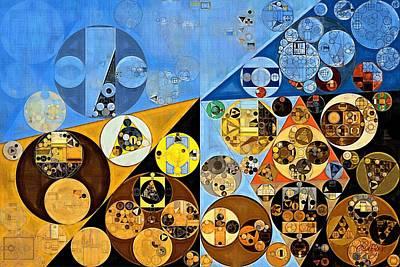 Bark Digital Art - Abstract Painting - Dark Pastel Blue by Vitaliy Gladkiy