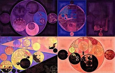 Brown Abstract Digital Art - Abstract Painting - Seal Brown by Vitaliy Gladkiy