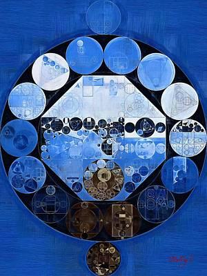 Forms Digital Art - Abstract Painting - Yale Blue by Vitaliy Gladkiy