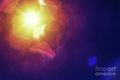 Pentagon Photograph - Abstract Sunlight by Atiketta Sangasaeng