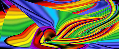 Digital Art - Abstract Throw by Sir Josef - Social Critic -  Maha Art