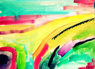 Abstract Watercolor Painitng Art Print by My Art