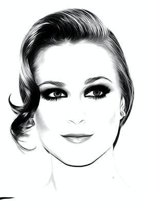 True Blood Digital Art - Actress And Singer Evan Rachel Wood  by Best Actors