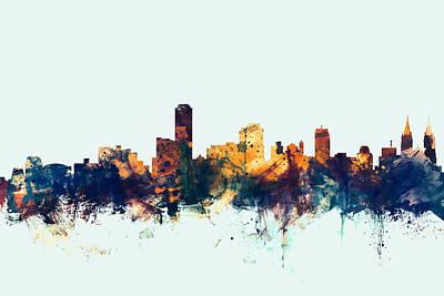 Australia Digital Art - Adelaide Australia Skyline by Michael Tompsett