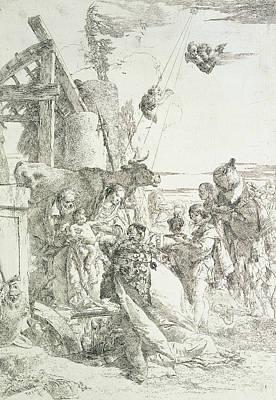 Relief - Adoration Of The Magi by Giovanni Battista Tiepolo