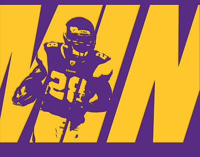 Photograph - Adrian Peterson Minnesota Vikings by Joe Hamilton
