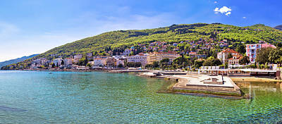 Photograph - Adriatic Town Of Opatija Waterfront Panoramic View by Brch Photography