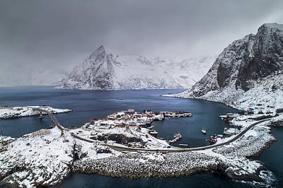 Photograph - Aerial View Of Norway In Winter Time by Gutescu Eduard
