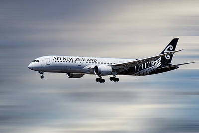 Mixed Media - Air New Zealand Boeing 787-9 Dreamliner by Smart Aviation