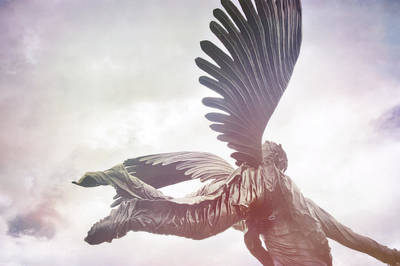 Airborne Angel Art Print by JAMART Photography