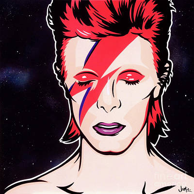David Bowie Wall Art - Painting - Aladdin Sane by James Lee