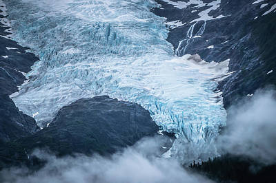 Photograph - Alaska Roky Mountains And Valley Of Glaciers by Alex Grichenko