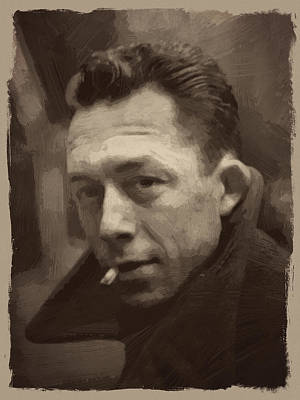 Quote Digital Art - Albert Camus 2 by Afterdarkness