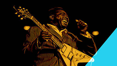 Guitarist Mixed Media - Albert King Collection by Marvin Blaine