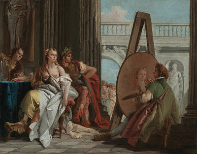 Painting - Alexander The Great And Campaspe In The Studio Of Apelles by Giovanni Battista Tiepolo