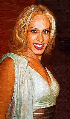 Bruce Jenner Digital Art - Alexis Arquette by Best Actors