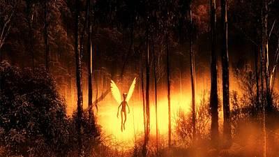 Alien Angel By Raphael Terra Art Print