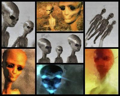Paranormal Digital Art - Aliens By Raphael Terra by Raphael Terra