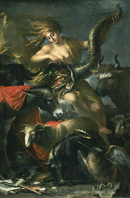 Fertility Symbols Wall Art - Painting - Allegory Of Fortune by Salvator Rosa