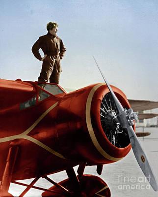Photograph - Amelia Earhart by Granger